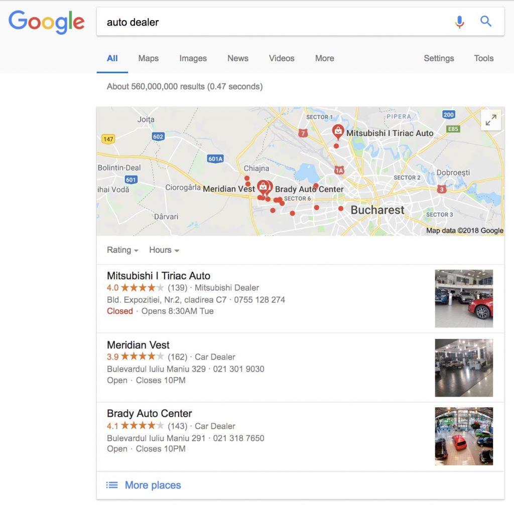 rezultate local seo google
