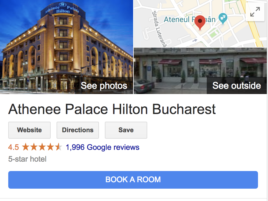 google business athenee palace hilton